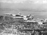 Late 1950s / Early 1960s - USAF F-104 Starfighters over Miami Beach