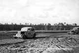 1950 - Ted Crownover's dad racing his 1934 Ford stock car at the Opa-locka Speedway