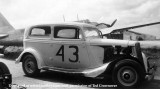 1950 - Ted Crownover's dad's 1934 Ford stock car with Douglas B-18 Bolo bomber at Miami International Airport