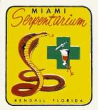 Bill Haast's Miami Serpentarium souvenir decal from the 1950's