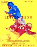 1952 - 30th Annual Thanksgiving Game, Miami Edison versus Miami High at the Orange Bowl program