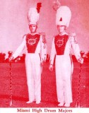 1952 - Miami High School Drum Majors