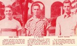 1952 - Miami High football players Barry Miller, R. E. Shepard and Elliott Telford