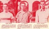 1952 - Miami High football players Barry Miller, R. E. Shepard and Elliott Telford