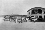 1929 - Fokker Tri-Motor at the dedication of the new passenger terminal at Pan American Field
