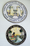 2008 - Town of Country Club Estates and City of Miami Springs Seals at the Historical Museum