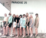 1968 - a group of fine Lucians Club members from Miami High at Paradise 25 (names below)