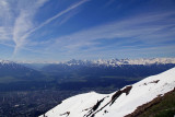 Mountain Panorama from Hafelekar  Station, Innsbruck Funicular & Cable Car