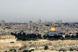 View of  Rooftops with Dome of the Rock, Jerusalem