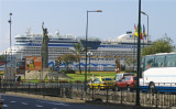 CRUISE LINER IN HARBOUR