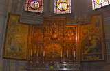 ALTAR  SCREEN IN THE SIDE CHAPEL TO OUR  LADY OF THUYNE