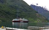 A Geiranger cruise ship on fjord   903