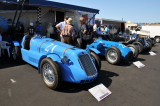 1946 Delage D6, foreground, and 1950 Talbot T26C