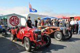 1934 MG-NE, foreground, and 1948 MG-TC