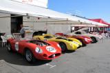 From left: 1957 Maserati 300 S, 1958 Ferrari 250 Testa Rossa, Ferrari and Ferrari