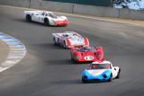 1965 Ginetta G12, 1968 Ferrari 312P, 1971 Chevron B19 and 1968 Porsche 908K