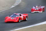 1970 Chevron B16 driven by Gray Gregory and 1971 Chevron B19 driven by Jonathan Feiber