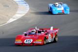 1971 Ferrari 312P driven by Ernie Prisbe and 1971 Chevron B19 driven by eventual winner Randall Smith