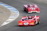 1971 Ferrari 312P driven by Ernie Prisbe and 1971 Chevron B19 driven by Jonathan Feiber