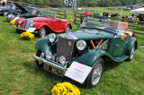 1953 MG TD Roadster, foreground, and 1955 MG TF Roadster