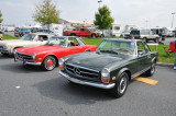 1969 Mercedes-Benz 280 SL, with removable hardtop, $59,000 (foreground)