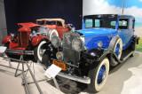 1931 Cadillac Town Sedan, right, and 1930 DuPont Model G convertible