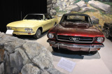 1965 Ford Mustang convertible, right, and 1965 Chevrolet Corvair Corsa Turbo convertible