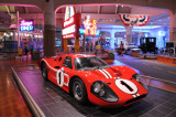 Dan Gurney and A.J. Foyt won the 1967 24 Hours of Le Mans with this Ford GT Mark IV. (Henry Ford Museum, Dearborn, Michigan)