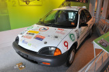 1999 New Jersey Venturer, hydrogen fuel-cell car based on the Geo Metro, on loan from Boyertown Museum of Historic Vehicles.