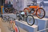 Various antique bikes.