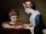 (8) Paintings by Jean Simeon Chardin (French, 1699-1779), such as The Little Schoolmistress, after 1740
