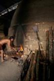 Charcoal worker at Kuala Sepetang, Perak