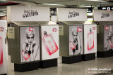 Agyness Deyn ad in Hong Kong subway station