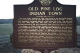 Pine Log Sign Front