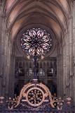 Rose window and cross