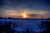 Sunset and Snow Field
