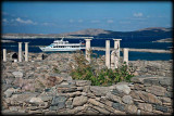 The ruins of Kleopatra's palatial home in Delos