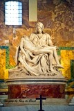 Michaelangelo's La Pieta at the Basilica