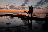 My wife  I  - East China Sea (Okinawa, Japan)