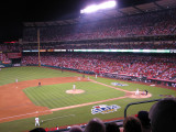 Game #1 of the LA Angels and Red Sox playoffs 2008