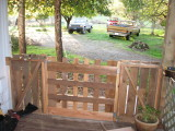 Fence and Gate made from barn scraps