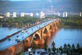 Bridge across the Yenisei River