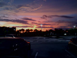 sunset at the Publix