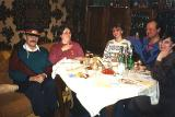 dinner table with Ljuda's family
