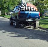 blue truck.