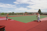 Resurfacing the Rover Tennis Courts