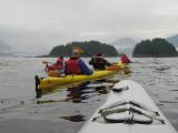Kayaking in the Breakwater, Sitka (0396L)