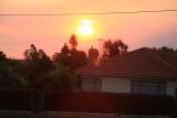 13 February A smoky sunset