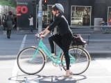 Woman on bike 3