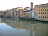 the river Arno reflexion
